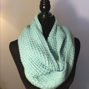 Baby Blue Infinity Scarf and Hat Combo